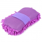 Coral Style Microfiber Car Dirt Cleaning Wash Sponge Brush - Purple