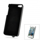 Rechargeable 2600mAh Backup Battery Case for iPhone 5 - Black + Blue
