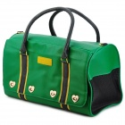 MAXIPA mxp-13020 Outdoor PU Leather Pet Bag w/ Strap - Green + Black + Yellow