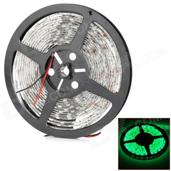JR-5050-60-G imperméable à l'eau 70W 2100lm 300-SMD 5050 LED Green Light Car Decoration Lamp Strip (5m)