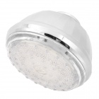 SHENDING LD8010-A2 Three Colors Light Changing 15-LED Round Shaped Rainfall Shower Head - Silver