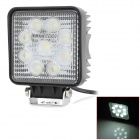 Buy YCWL-0627 27W 1800lm 6500K 9-LED White Light Emergency Vehicle Warning / Working Lamp - Black