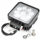 YCWL-0627 27W 1800lm 6500K 9-LED White Light Emergency Vehicle Warning / Working Lamp - Black