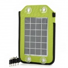 ZNOODA YG-020 Portable Solar Powered Battery w/ 5 Adapters for Nokia + More - Green + Black