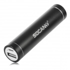 SOCANY S13 Rechargeable 2600mAh External Power Battery for Iphone / Ipad / Samsung / Nokia - Black