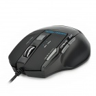 AULA Killing the Soul 7D USB Wired 800 / 1200 / 1600 / 2000dpi Game Optical Mouse - Black