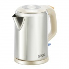 SKG SW-1809 1800W Dual Layers Stainless Steel Anti-Dry Electric Kettle - Brown + Cream (1.8L / 220V)