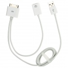 2-in-1 USB Card Reader + Connection Cable Kit for iPad 1 / 2 / 3 - White