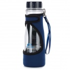 STROMVERSORGUNG Portable Multi-Funktions-Cup Kettle - Deep Blue + Transparent (500ml)