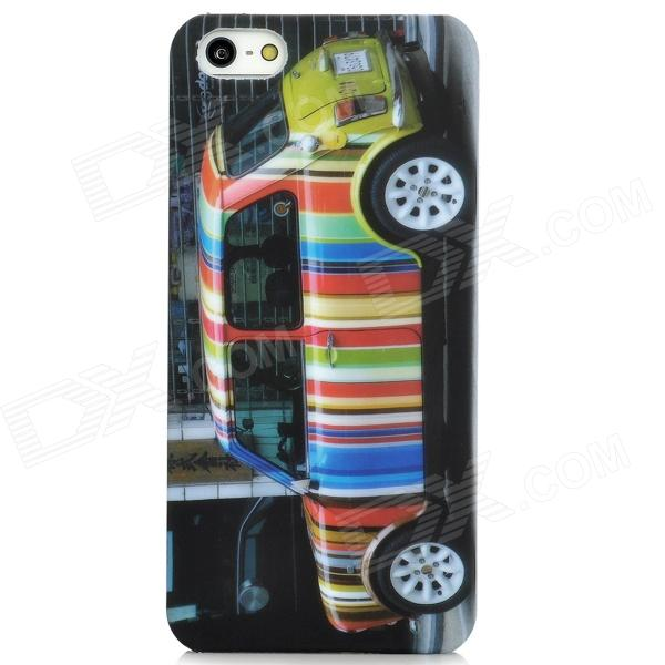 Protective Colorful Car Pattern Plastic Case for Iphone 5 colorful feather pattern protective plastic case for iphone 5
