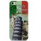 Protective Leaning Tower of Pisa + David Sculpture Pattern Plastic Case for Iphone 5