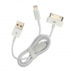 USB to 8pin Lighting / iPhone 30pin Charging & Data Sync Cable - White (70cm)