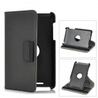 Protective Flip-Open 360 Degree Rotation PU Leather Case w/ Wallet Card Slot for Nexus 7 - Deep Grey