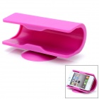 Universal Cellphone Rubber Desktop Holder w/ Suction Cup - Fuchsia