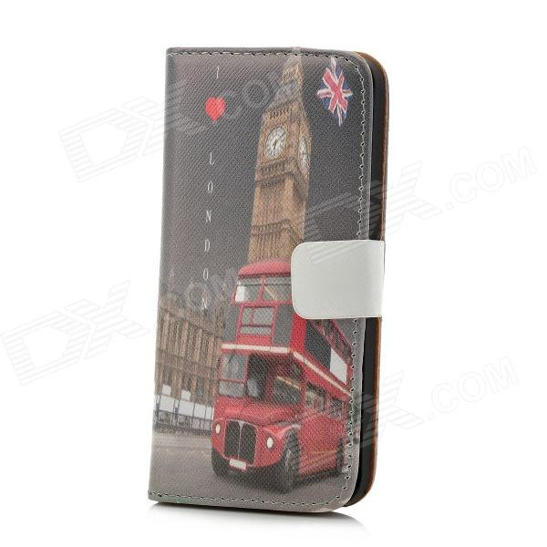 все цены на Protective Big Ben Pattern PU Leather Case for Iphone 5 - Grey онлайн