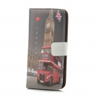 Protective Big Ben Pattern PU Leather Case for Iphone 5 - Grey