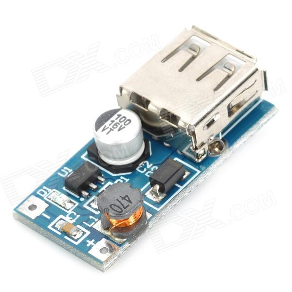USB DC 0.9V to 5V Voltage Step-up Boost Module - Blue + Silver dc dc 5v to 12v usb step up power supply module boost converter module 5 8w power for power bank diy