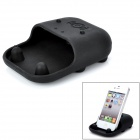 Desktop Silicone Holder / Loudspeaker / Woofer for iPhone 3 / 3G / 4G / Samsung 9300 + More - Black