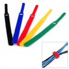 KX-36 Velcro Band Computer Cable Tie Set - Red + Black + Green + Yellow + Blue (5 PCS)