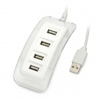 BH-067 4-Port USB 2.0 Hub w/ Blue Indicator - White