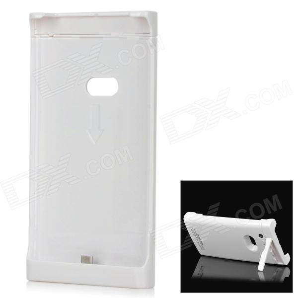2200mAh Rechargeable External Battery Back Case for Nokia Lumia920 - White super big wind portable 3 gears usb batery fan with 2200mah 16850 lithium battery working time 7 5 hours black