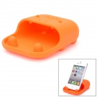 Desktop Silicone Holder / Loudspeaker / Woofer for Iphone 3 / 3G / 4G / Samsung 9300 + More - Orange