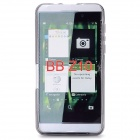 Protective Frosted TPU Back Case for BlackBerry Z10 - Translucent Grey