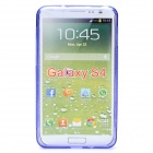 Stylish Protective TPU Back Case for Samsung Galaxy S4 i9500 - Blue Purple