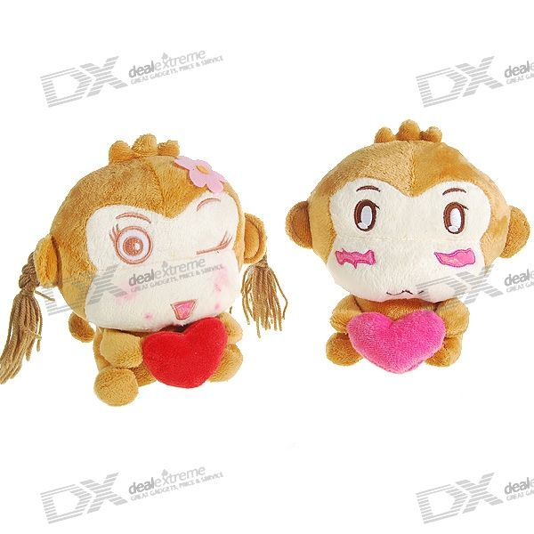 Valentine's Day Gift - Cute Monkey Couple Dolls