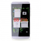 Protective Frosted TPU Back Case for BlackBerry Z10 - Translucent White
