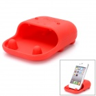 Desktop Silicone Holder / Loudspeaker / Woofer for Iphone 3 / 3G / 4G / Samsung 9300 + More - Red