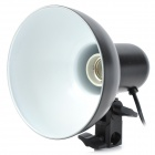 Adjustable Studio Flash Light Lamp Shade Softbox w/ E27 Light Socket - Black (16cm)