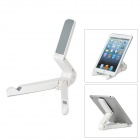 Foldable Plastic Desktop Stand for Ipad 2 / 3 / 4 / Ipad MINI / Samsung Galaxy Tad / Xoom - White