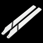 325mm Align Trex Carbon Fiber Blades for R/C Helicopter - White + Black (Pair)