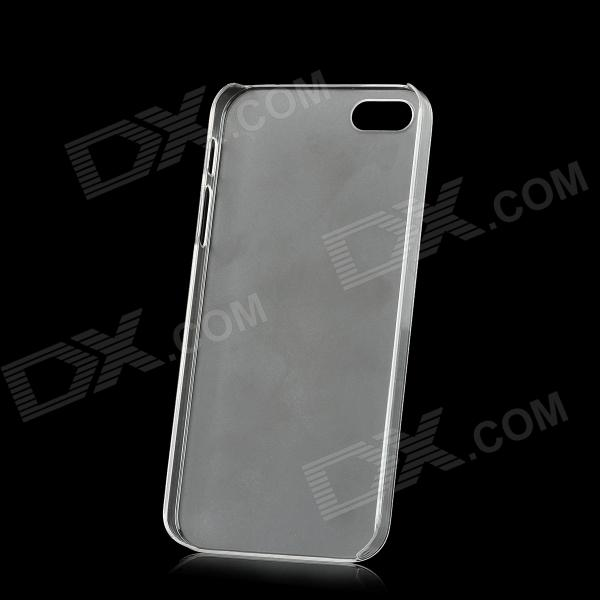Protective Plastic Matte Case for Iphone 5 - Transparent White