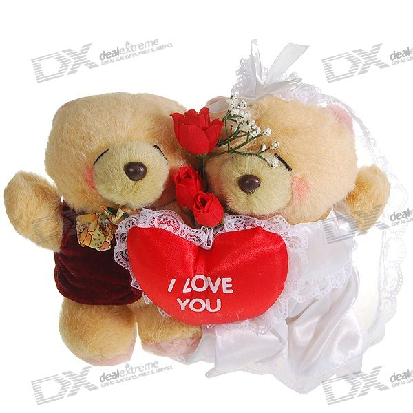 Valentine's Day Gift - Cute Wedding Couple Bear Dolls