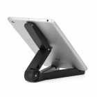Foldable Plastic Desktop Stand for Ipad 2 / 3 / 4 / Ipad MINI / Samsung Galaxy Tad / Xoom - Black