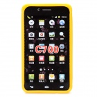 Protective Frosted TPU Back Case for Samsung Galaxy S4 i9500 - Yellow