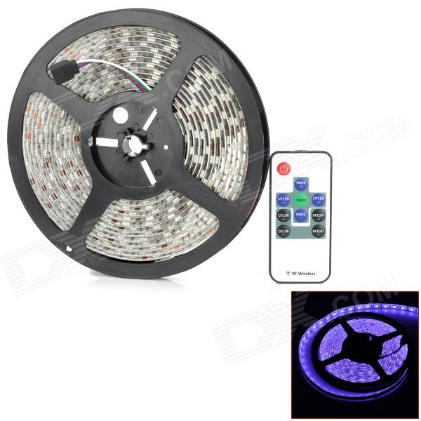 72W 3600lm 620/510/460nm 300-5050 SMD LED RGB Light Car Strip Lamp w/ Remote Control Set - Black
