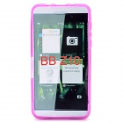 Protective Frosted TPU Back Case for BlackBerry Z10 - Translucent Purple