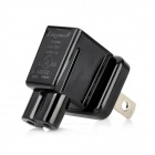 2-Flat-Pin Plug Adapter for Samsung P7310 / P7500 / P7510 / P6200 / P6800 / P6210 - Black