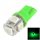 LGFOX T10 0.5W 30lm SMD 5050 LED Green Light Car Bulb - Green + White