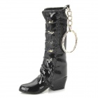 Creative Boot Shape ABS Butane Gas Lighter w/ Keychain - Black