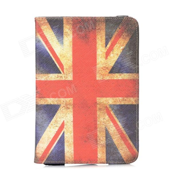 Retro Union Jack Pattern PU Leather 360 Degree Rotatable Case w/ Card Slots for Ipad MINI
