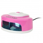 Heart Shape Portable 2W LED UV Light Lamp Cure Nail Dryer - White + Pink (250V / 2-Round-Pin Plug)