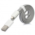VOJO Basic USB Male to Micro USB Male Cable - Grey + White (59cm)