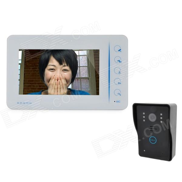 "SY807MJ11 7"" TFT Touch Rainproof 3.6MM Digital Video Door Phone w/ Night Vision - White + Black"