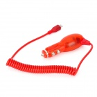Micro USB Car Cigarette Lighter Charger for HTC / Samsung - Red (DC 12~24V)