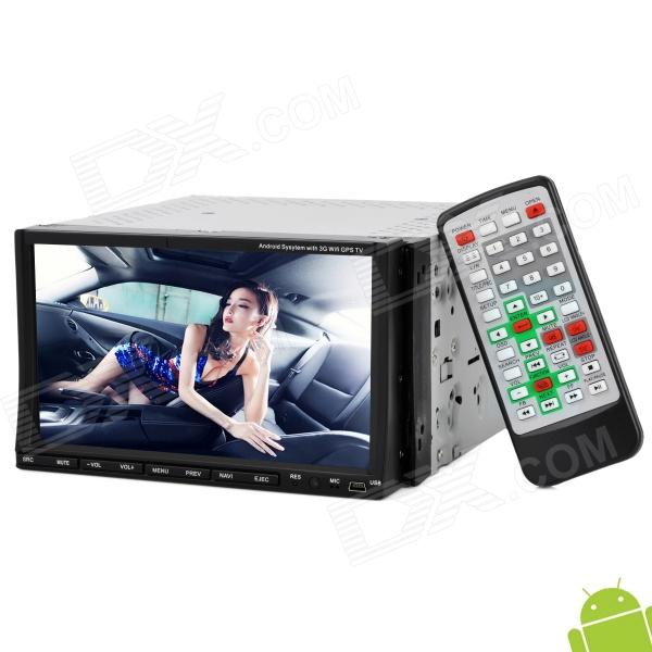 "HC8768 Universal 7"" Android 2.3.5 Resistive Screen Car DVD Player w/ GPS / Bluetooth / FM / AM / SD"