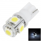 LGFOX T10 0.5W 30lm 6000K 5-SMD 5050 LED White Light Car Bulb - White